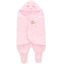 Wholesale Unisex Receiving Blankets - Banjvall Newborn Baby Winter Sleeping Bags Infant Thickening Cartoon Receiving Blankets Toddler Bed Swaddle