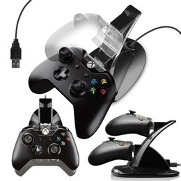 2019 playstation controladores inalámbricos al por mayor Al por mayor-LED Dual Charger Dock Mount USB Soporte de carga para PlayStation 4 PS4 Xbox One Gaming Controller inalámbrico con caja de venta por menor OTH775 playstation controladores inalámbricos al por mayor baratos