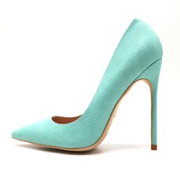 sandali di menta Sconti Donne libere di trasporto pompe sexy lady 120mm mint snake python point toe scarpe tacchi alti sandali tacco sottile 10 cm partito scarpe taglia 42