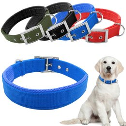 Wholesale Padded Leather Neck Collar - Nylon Soft Liner Padded Dog Pet Collars Neck Protection Safe CollarFor Small Medium Large Dogs 1pc wholesale
