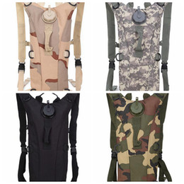 Wholesale Tactical Vest Bags - 3L Bolsa Camelback Camouflage Backpack Tactical molle Hydration Packs Camping Bicycle Water Bag Backpack Vest LJJD19