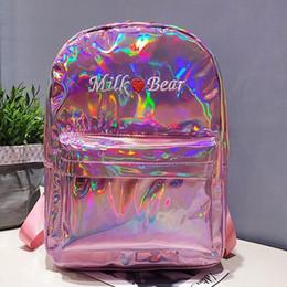 Wholesale uk nylon - Laser backpack ladies fashion backpacks women large capacity laser bag 2018 new US CA UK style popular purse bag