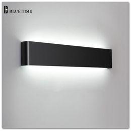 36W 111cm espejo de baño frontal luz moderna LED lámparas de pared aplique  de luz para interior como decoración iluminación negro blanco acabado 656964a64004