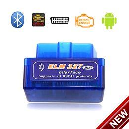 Wholesale Launch Ecu Diagnostic Tools - Diagnostic scanner for car automotivo escaner automotriz Mini V2.1 ELM327 OBD2 Bluetooth Interface Auto Car Scanner DHL Free Shipping