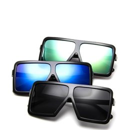 Wholesale Large Mirrors Wholesale - Large Black Frame Eyeglass Personality Mirror Legs Sunglasses For Men And Women Sun Glasses Factory Direct Sale 3 8zh B