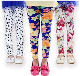 Wholesale kids floral leggings - 45 styles Spring Baby Kids leggings Children girls Flower printed Toddler baby floral Leggins pants Girls legging baby girl leggings