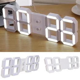 timer remoto digitale Sconti Home Remote Digital Wall LED 3D Nuovo moderno timer di visualizzazione del controllo orologio