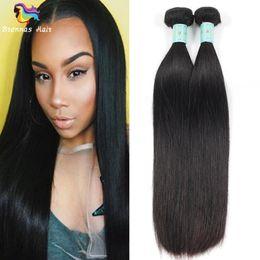 18 polegadas de cabelo malaysian on-line-Unprocessed Virgin Malai Straight Hair Weaves 100% Remy Extensões de Cabelo Humano 8-30 polegadas Original brasileiro peruana indiano cabelo trama