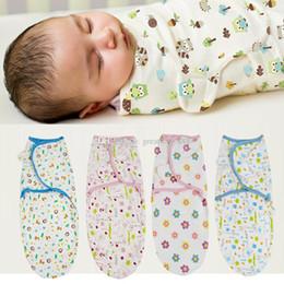 Wholesale Baby Sleeping Bag Pattern - Infant Sleeping Bags Baby print Swaddling 2018 new 62*28cm Newborn Cotton printing Blanket 11 styles C3451