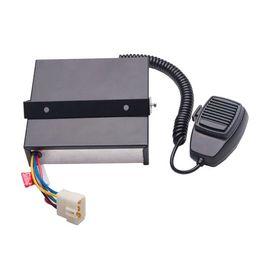 Wholesale Police Car Horn - 200W Siren 12V CJB200E Police Siren Alarm Car Electronic Sirene Police Car Alarm Horn with Mic 8 Tones Loudspeaker Amplifier