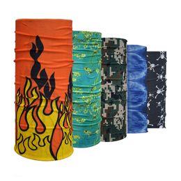 Wholesale Tube Bandanas Wholesale - Wholesale- Flame Bandana Headband Scarf Multi Functional Seamless Tubular Magic Bandanas Tube Ring Scarf G41-G60
