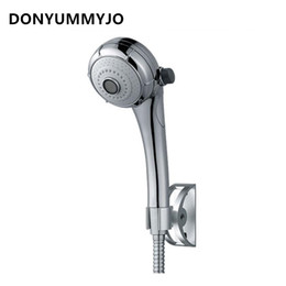 Wholesale high water switch - DONYUMMYJO High-quality Water-saving Three-function Switch Button Shower Heads With Base Bracket And Hose