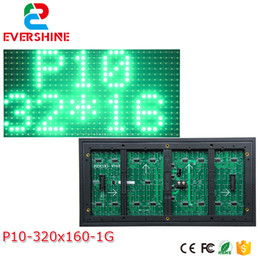 Argentina 10 mm píxel exterior solo color rojo 320x160 32x16 p10 led signo módulo p10 solo color panel verde supplier led panel module Suministro