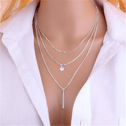 gold neckless 2018 - Tassel Jewelry Triple Circles Choker Necklaces for Women Neckless Gold & Silver Long Statement Necklace Female Collier Femme