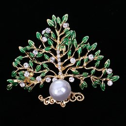 Wholesale Ancient Pearls - restoring ancient pearl brooch tree of life brooches pin corsage