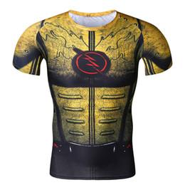 Wholesale Men Raglan Shirts - Cosplay Costume Reverse Flash Superhero 3D Printed T-Shirt Men's Short Sleeve Compression Shirt Raglan Clothing Fitne