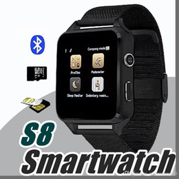 Wholesale Metal Smart Watches - 2018 Smart Watch S8 X6 Metal Clock Sync Notifier Support Sim TF Card Bluetooth Connectivity Android&IOS Phone Alloy Smartwatch S8 A1-BS