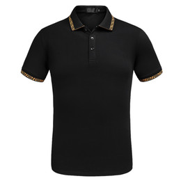 Wholesale office fashion wear - New Fashion Designer Polos Men Brand Poloshirts Short Sleeve Summer Style Classic Luxury Tshirts Top Quality Business Office Wear