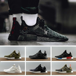 Wholesale Shoes Skulls - 2018 XR1 Running Shoes Mastermind Japan Skull Fall Olive green Camo Glitch Triple Black White Blue zebra men women sports shoes 36-45