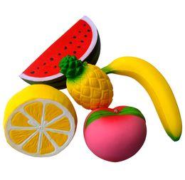 2019 giocattolo per cellulari pvc Squishies Squishy Jumbo Lento aumento Spremere Toy Fruit Lemon Ananas Ciondolo per cellulare C772 sconti giocattolo per cellulari pvc