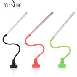 Wholesale E11 Led Bulbs - 6W LEDs reading lamp Bendable Flexible LED USB Book light Eye Protection Clamp 30 lamp beads Clip Light Table