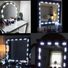 Luces de espejo de vanidad de maquillaje Regulables 60 LEDs 9.8FT Kit de luces de maquillaje LED de bricolaje 2800LM para espejos cosméticos / cocina con control remoto desde fabricantes