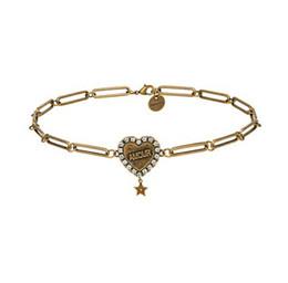 aaa edelstein perlen Rabatt Rongho neues design Vintage Kristall amour Herz halsketten für frauen Antike goldkette anhänger halskette brief anhänger