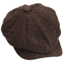 café vaqueiro Desconto Moda Cap Octagonal Newsboy Beret Hat Outono E Inverno Chapéus Para Homens Cor Do Café Bonito Da Manta Ocasional Chapéu Beret Cap