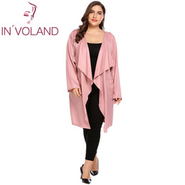 IN VOLAND Mujeres Cardigan Sweater Tops Tallas grandes 3XL Otoño Casual  Casual manga larga Open Front draped Long Trench Chaquetas Coat Oversize 191478c4a5aa