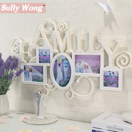 Wholesale Romantic Collection - Sully Wong Freeshipping 5 Boxes 2PC Lot and 8 boxes 8PC Lot Romantic Hanging Carved Family&Wedding Photo Collection Frame CF-8