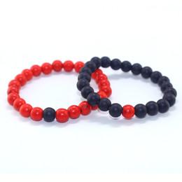 Braccialetto rosso di carnelian online-Il braccialetto di energia fortunato della fortuna di semi preziosa glassato rosso naturale di corniola X ha regolato i monili del regalo