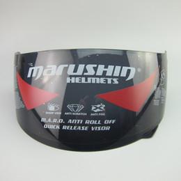capacetes de viseira para motocicletas Desconto Marushin Anti nevoeiro lente escudo viseira rosto cheio Marushin 111 222 778 999 888 RS2 779 capacete da motocicleta transparente preto claro