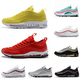 2019 eva sports with box Nike Air Max 97 OG UNDFTD Airmax 97 OG QS Лучшие новые мужские кроссовки для обуви 97 Undefeated x OG кроссовки Black White Trainer fly Cushion Breathable Man Walking Sports Shoes дешево eva sports