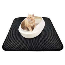 2019 petite toilette en plastique Tapis de litière anti-dérapant durable pour le chat, imperméable, léger, facile à nettoyer, pour animaux de compagnie, double couche, tapis de chat élastique en EVA