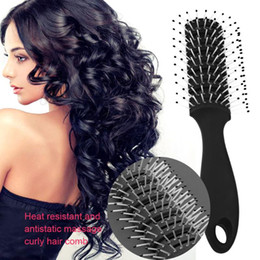 Wholesale wholesale wig brushes - Anti-static Heat Comb Pro Hairdressing Hair Salon Barber Hair Wig Styling Tools Combs Brushes Healthy Reduce Loss Tool