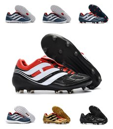 Wholesale Precision Flat - 2018 Predator Mania Predator Precision IF IC FG Cleats Ultra Boost Limited Edition Size EU39-45 Soccer Boosts Football Shoes Top Quality
