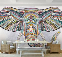 Hochwertig 2018 Elefanten Wand Wandmalereien Tier Elefant Foto Wandbild 3D  Benutzerdefinierte Tapeten Für Wohnzimmer TV Backsplash Minon