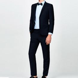Wholesale Men S Slim Suits Sale - Men Business Suit Groom Tuxedos Groomsman Suits Wedding Costume for Men 2 Pcs (Jacket+Pants) Terno Slim Suits 2017 Hot Sale