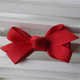 Wholesale Perfect Ribbon - New 36pcs Lot Fashion Girl Bowknot With Clip High Quality Ribbon Lined Alligator Clip Perfect For Your Hairpin