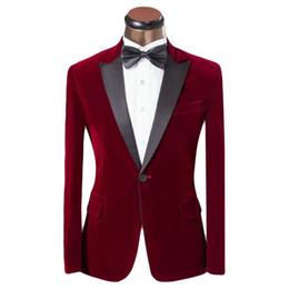 Wholesale Men S Blazers Slim Fit - Lastest Coat Pant Design Men Suit Red And Blue Tuxedo Fashion Brand Men Slim Fit Wedding Prom Suits For Groom Size XS-6XL
