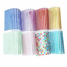 Blatt strasssteine online-3D Nagel Strass Aufkleber 4mm 437 Teile / blatt 11 Farbe Aufkleber Für Stanzen Charms Bronzing Nail art Aufkleber