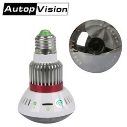 Wholesale Light Bulb Dvr Camera - BC New Style HD720P Bulb Light Camera 90 degree WiFi Bulb P2P IP Network DVR Camera White Warm yellow Light Wireless