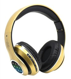 Wholesale general wireless - 2018 led the LED flash STN-13L bluetooth headset stereo motion mp3 wireless headset General all phones