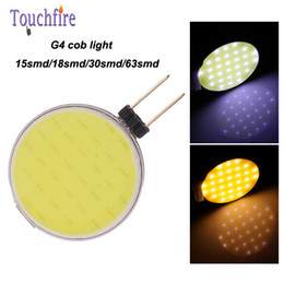 Wholesale 18 Rear - 10pcs G4 30 18 LED Bulb Tubes Corn Lamp 2.5w AC 12V White Warm cob Light 360 Beam Angle replace Halogen Spotlight Chandelier