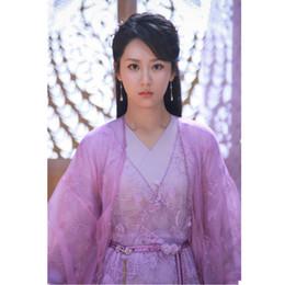 2019 disfraces de carnaval blanco nieve Los trajes de cosplay Ancient Fairy chinos Hanfu vestido de princesa de las muchachas funcionamiento de la etapa de invierno tradicional Mujeres Tang hermoso príncipe danza