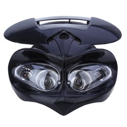 Wholesale fairings for motorcycles - Motorcycle Dual Headlight Fairing Head Lamp High   Low Beam for F-Eagle Apollo DC 12V 18W Applicable to Universal Motorcycles