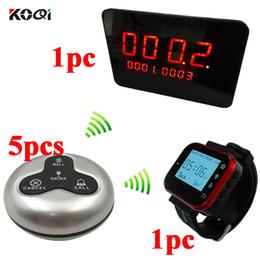 Sistema de llamada inalámbrico Ycall 1 Reloj de pulsera de muñeca de moda Receptor recargable resistente al agua 1 pantalla 5 llamadas de servicio desde fabricantes