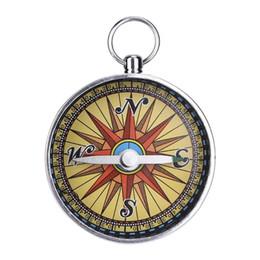 2019 porte-clés boussole de poche Pocket Keychain Mini Randonnée Camping Alliage D'aluminium En plein air d'urgence Compass Navigation Outil Sauvage Compass promotion porte-clés boussole de poche