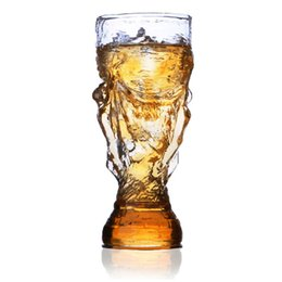 Wholesale Draw Bar - 330ml Creative Beer Glass Heat Resistant Mug Hercules Bar Juice Hand-drawn Beer Mug Home Office Drinks Water free shipping