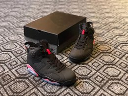 Wholesale mens winter boots size 12 - Newest Mens Basketball shoes 6 Black Infrared 23-Black high quality Mens Sports Shoes 384664-023 designer Sneakers size 7-12